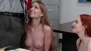 Detention Gals goes on top of thier teacher bouncing their pussies!