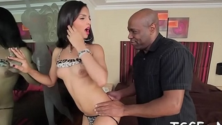Helpful t-girl favors her sex partner with a perfect blowjob