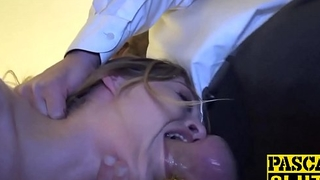 Cum eating Rhiannon Ryder pounded chokingly hard