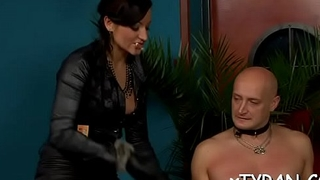 Hardcore femdom fetish with nasty playgirl whipping slave hard