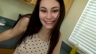Young Daughter'_s Secret Affair with Daddy - POV, Teen, Brunette - Lenna Lux