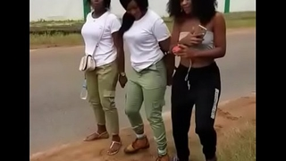 Sexy Nigerian babes ass shaking contest