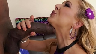 XXL black cock filled Cherie DeVille'_s asshole