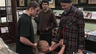 Hot nice-looking girl dominated and fucked in the ass by cruel landlord.