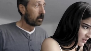 Spanked and Banged! Dad spanks his whore daughter Emily Willis!