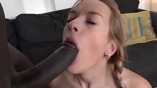 Teen ass fuck and incredible orgasm with big black dick