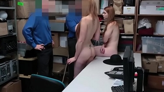 Two shoplifters gets their tight pussy banged