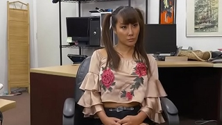 Hot Asian slut Tiffany Rain trades big tits for money