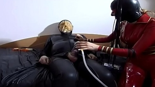 Fetish and perverse sluts pumping a cock
