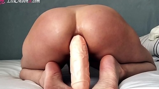 Rough Anal my Little Ass with Huge Dildo, ANAL ORGASM