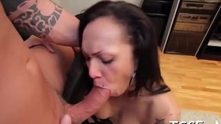 Dirty-minded lady-man yearns for cold-blooded ass fucking
