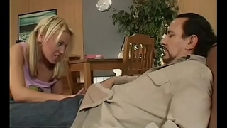 Schoolgirl with a large butt rides teacher'_s dick with passion