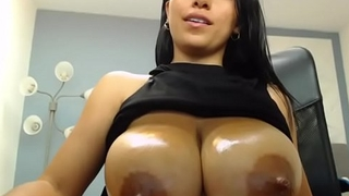 Miss Liley Showing A Lot of Milk From Her Big Milky Columbian Tits
