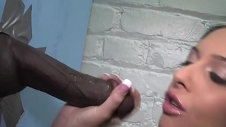 Stephanie Cane Sucks And Fucks Two BBCs - Gloryhole